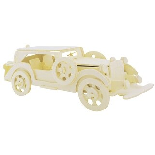 Kids Gift Cubic Rolling Automobile Mould Picture DIY Wooden Puzzle Toy