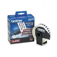 """""""Brother E05986W Brother DK-2210 Continuous Length Paper Label Roll (1-1/7"""" Wide) - Retail Packaging"""""""