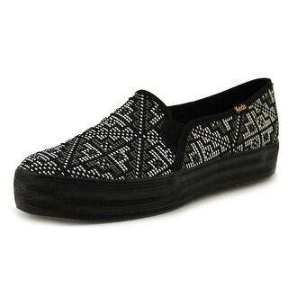 Keds Triple Deck Stitch Women Black Flats