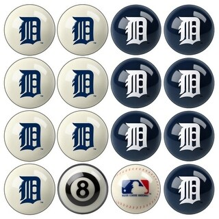 MLB Detroit Tigers Baseball Billiard Balls Complete Set of 16 Balls
