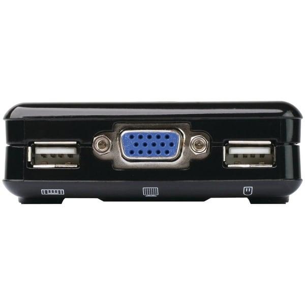 Iogear 2-Port Compact Usb Vga Kvm With Built-In Cables, Gcs42uw6