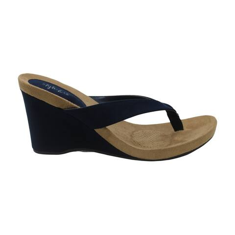 Style & Co. Womens Chicklet Fabric Split Toe Casual Platform Sandals