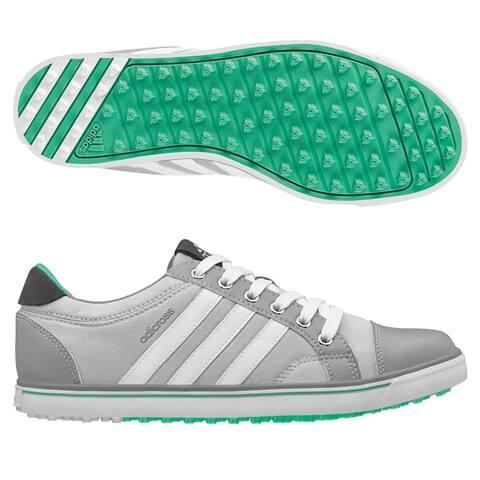 Adidas Women's Adicross IV Clear Grey/Mid Grey/Bright Green Golf Shoes Q47026