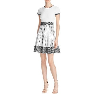 Parker Womens Casual Dress Stretch Patterned