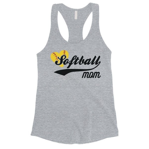 7fc482921f9 Shop Softball Mom Tank Top Womens Grey Sleeveless Workout Shirt ...