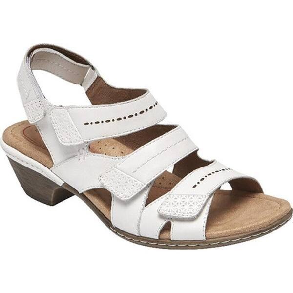 730d5c4d328 Shop Rockport Women s Cobb Hill Verona Strappy Sandal White Leather ...