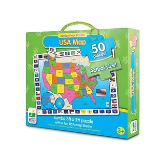 The Learning Journey Jumbo Floor Puzzles, USA Map - multi