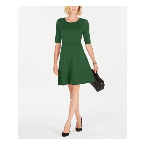 JESSICA HOWARD Green Short Sleeve Short Dress XL