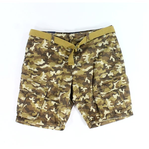 9beab0465f Shop American Rag Brown Mens Size 38 Cargo Camo Belted Relaxed Fit Shorts -  Free Shipping On Orders Over $45 - Overstock - 28420918