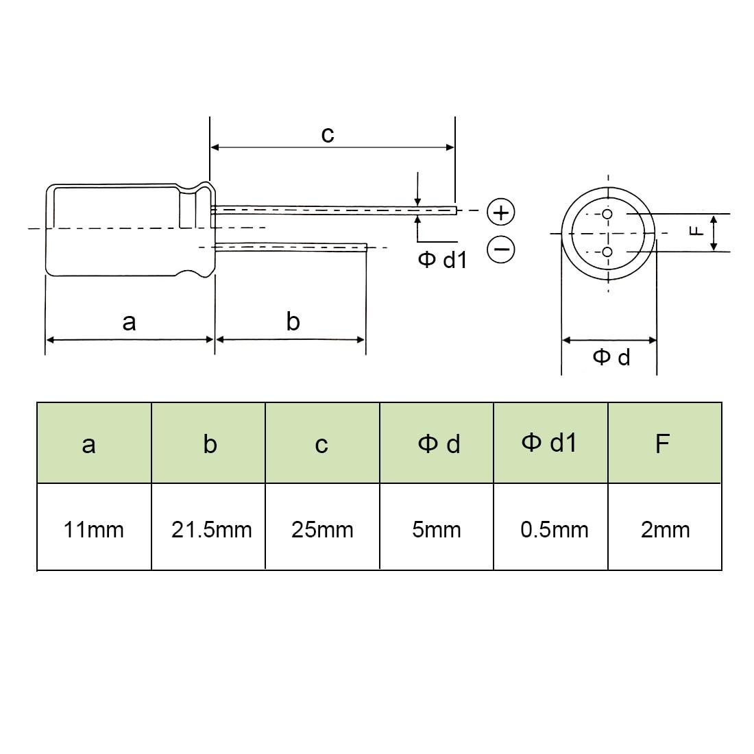 25 pcs 47uF 50V Radial Electrolytic Capacitor 6.3 x 12mm 6.3x12