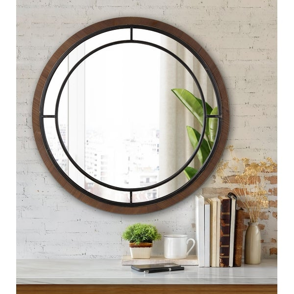 Kate and Laurel Audubon Round Framed Wall Mirror. Opens flyout.