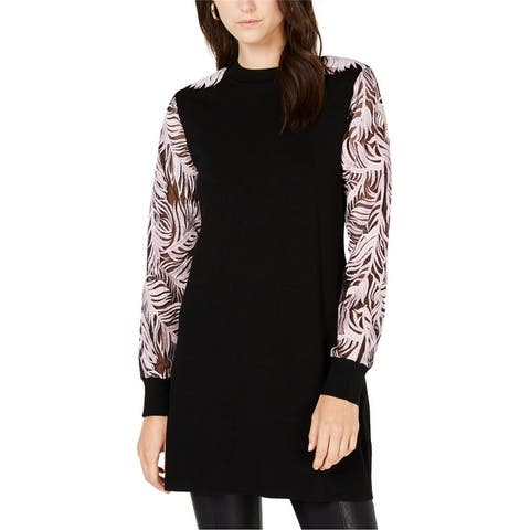 I-N-C Womens Embroidered Sleeve Tunic Sweater