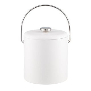 Kraftware 3 qt. Contempo Ice Bucket with Domed Vinyl Lid, Bale