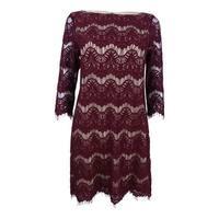 Jessica Howard Women's Lace Illusion Sheath Dress
