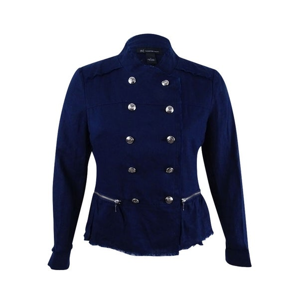 Shop Inc International Concepts Women s Linen Peplum Military Jacket ... a6d387c4e5