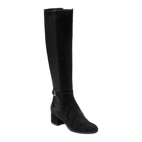 Cole Haan Women's Avani Stretch Tall Boot Black Suede