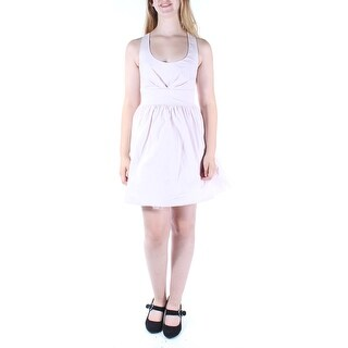 CRYSTAL DOLLS Womens New 1263 Pink Sleeveless Fit + Flare Dress Juniors 9 B+B