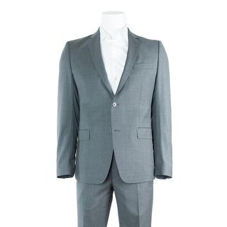 Versace Collection Men's Gray Wool Two Button Suit - 40