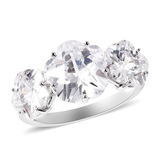 Link to 925 Sterling Silver Cubic Zirconia 3 Stone Ring Size 7 Ct 11.3 - Ring 7 Similar Items in Rings