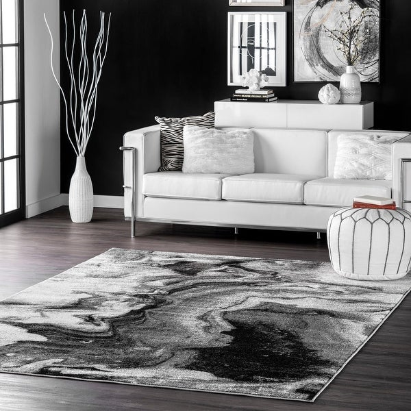nuLOOM Grey Contemporary Abstract Area Rug. Opens flyout.