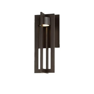"""WAC Lighting WS-W48616 Chamber Single Light 16"""" High Integrated LED Outdoor Wall Sconce"""