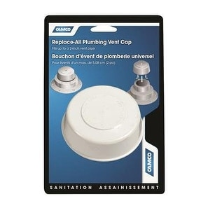 Camco Plumbing Rv Vent Cap Plastic 4 Pk-Mfg# 40034 - Sold As - White