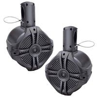 "Power Acoustik Marine 8"" Wake Tower Speaker Titanium (Pair)"