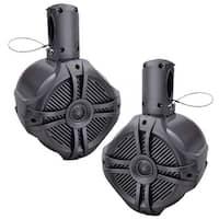 "Power Acoustik Mwt-80t Marine-grade 8"" 750-watt Wake Tower Enclosure & Speaker System (titanium) (MWT-80T)"
