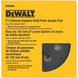 """DeWalt 5"""" Med 8-Hole H & L Pad"""