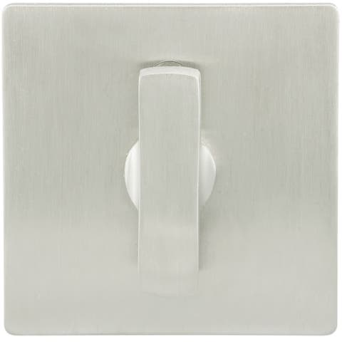 "INOX EC1314-BD4312 Privacy Lock for Sliding Barn Door with TT14 Thumbturn, Square Rose and 3-1/2"" Backset -"