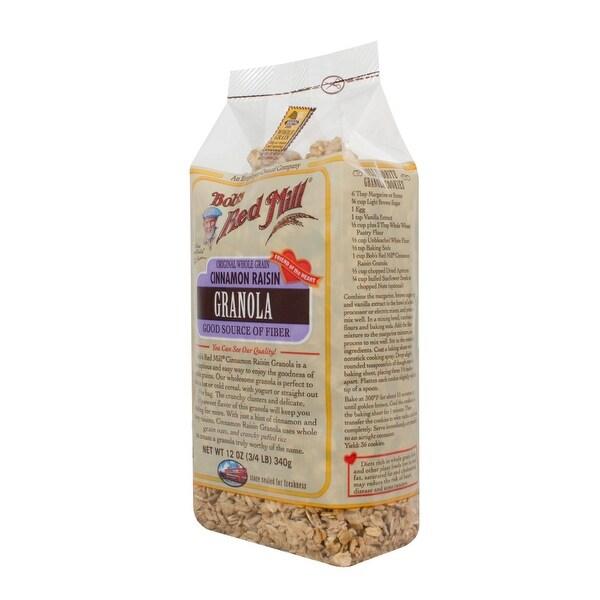 Bob's Red Mill Cinnamon Raisin Granola - 12 oz - Case of 4