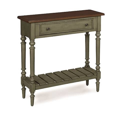 The Gray Barn Grange Solid Wood Small Console Table