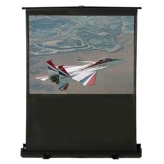 portable floor screen. 16:9 format- matte white fabric.screen
