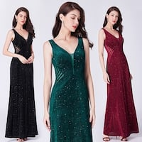 Ever-Pretty Women's Retro Velvet Glitter Formal Evening Party Dress 07439