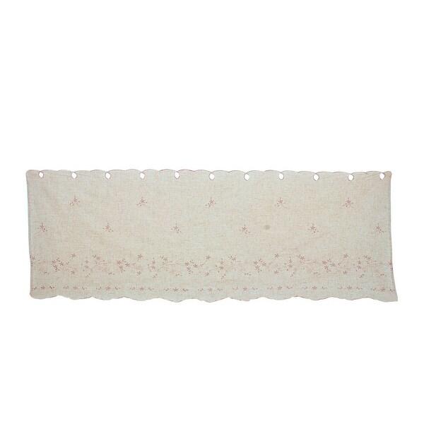 Cotton Linen Darkening Short Drapery Curtain Window Valance 60 Inch x 21.7 Inch - Pink,Light Brown. Opens flyout.