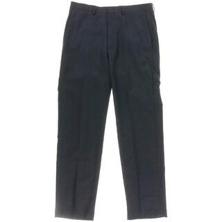 Ryan Seacrest Mens Wool Flat Front Suit Pants - 33/32