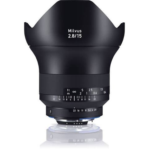 Zeiss Milvus 15mm f/2.8 ZF.2 Lens for Nikon F - Black