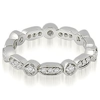 Petite Vintage 0.40 ct.tw 14K White Gold Round Cut Stackable Diamond Eternity Ring HI,SI1-2