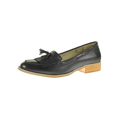 Steve Madden Womens Majorrr Loafers Fringe Faux Leather