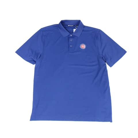 Cutter & Buck Mens Shirt Blue Size Large L Embroidered Polo Rugby