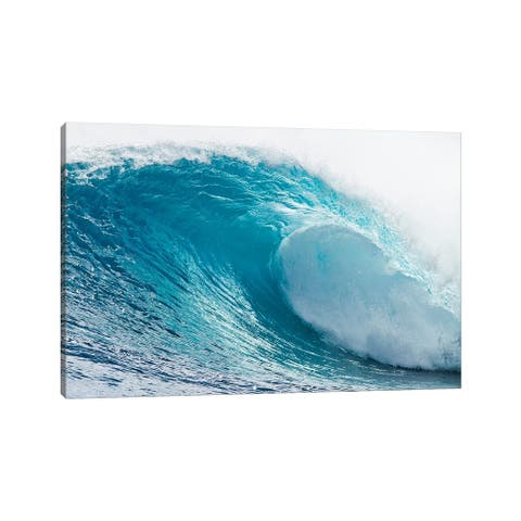 """iCanvas """"Plunging Waves I, Sout Pacific Ocean, Tahiti, French Polynesia"""" by Panoramic Images Canvas Print"""