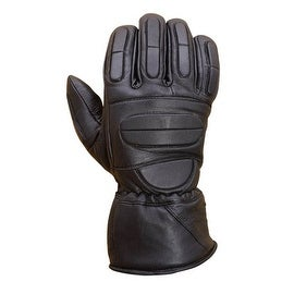 Premium Leather Motorcycle Biker Riding/Cruising Winter Gloves Black G11