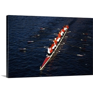 Premium Thick-Wrap Canvas entitled Crew Boat at Head of Charles Regatta