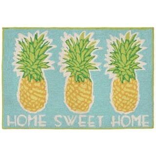 Trans-Ocean Imports Frontporch Home Sweet Home Aqua 24 x 36 in.