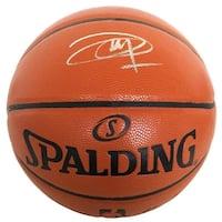 Joel Embiid Philadelphia 76ers Signed Spalding NBA Basketball Fanatics