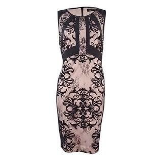 Ivanka Trump Women's Lace-Combo Sheath Dress