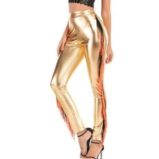 Link to Faux Leather Tassel Skinny Slim Fit Legging Similar Items in Pants