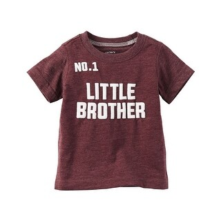 Carter's Little Boys' No. 1 Little Brother Graphic Tee, 4-Toddler