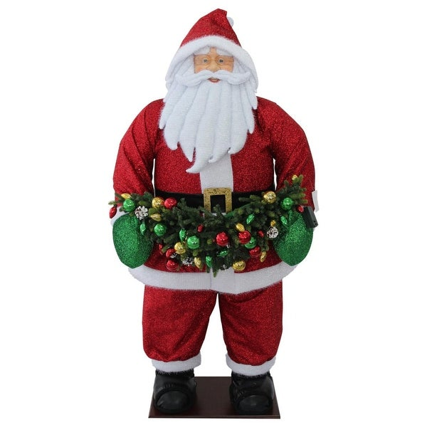 """60"""" Red and White Christmas Santa Claus Outdor Inflatable"""