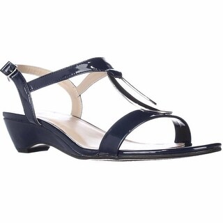 KS35 Carmeyy Wedge Dress Sandals - Navy